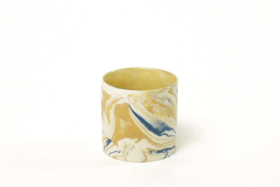 Mustard & Blue Marble Cup in Small (150ml)