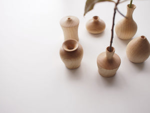 TSURUKUBI(crane neck) Shape Mini Wooden Vase from Japan