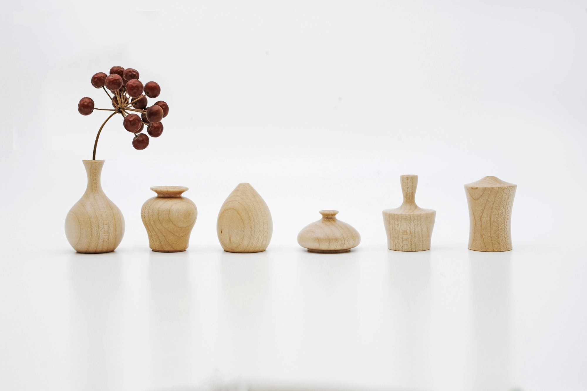 KINUTA(wooden block for beating cloths used for softening) Shape Mini Wooden Vase from Japan