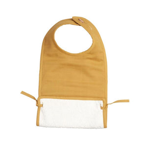 Muslin Feeding Bib in Ochre