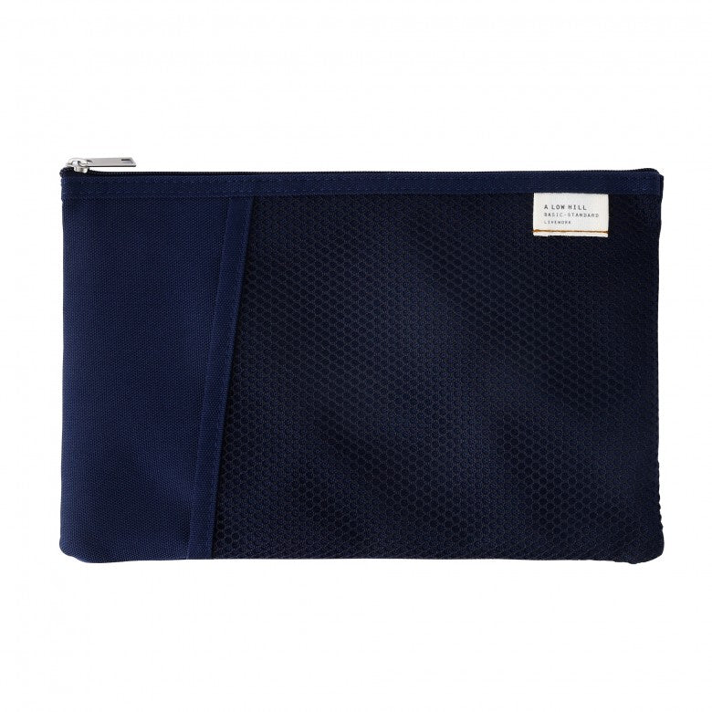 Mesh Pocket Daily Pouch in Navy