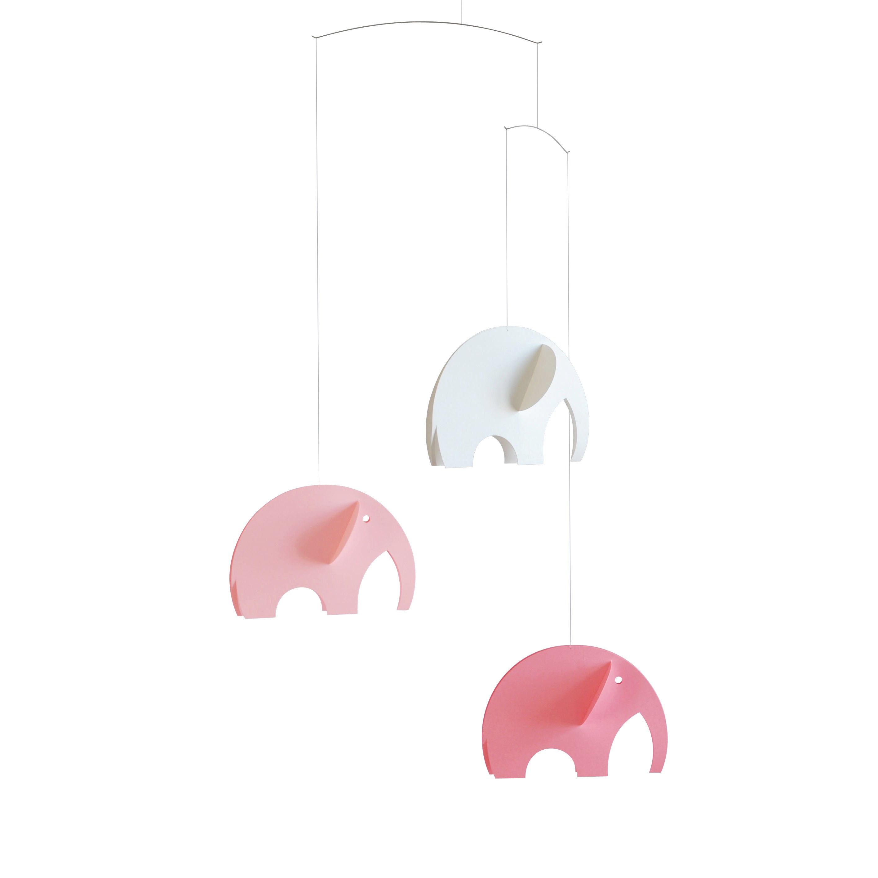 Elephant Mobile in Pastel Pink