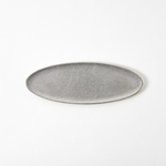 Small Silver Tin Oval Tray from Japan