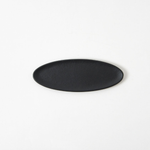 Small Black Metal Oval Tray from Japan