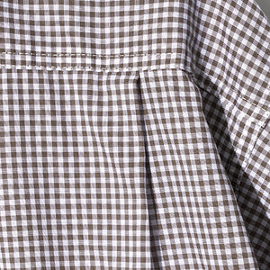 Gingham Check Shirt in Smoke Beige