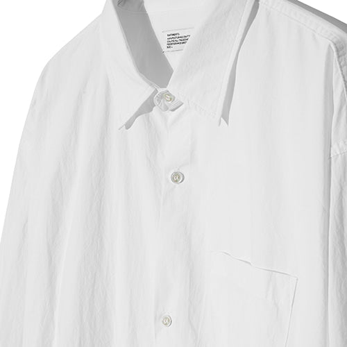 String Washing Shirt in White