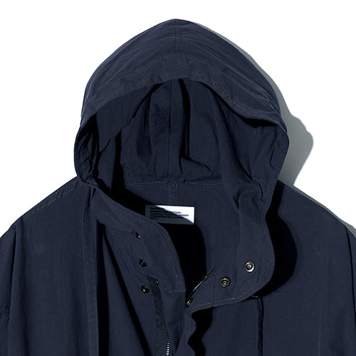 Washing Cotton M-51 Fishtail Hooded Jacket in Navy