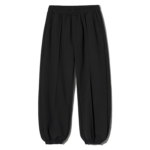 Wide Sweat Jogger Pants in Black