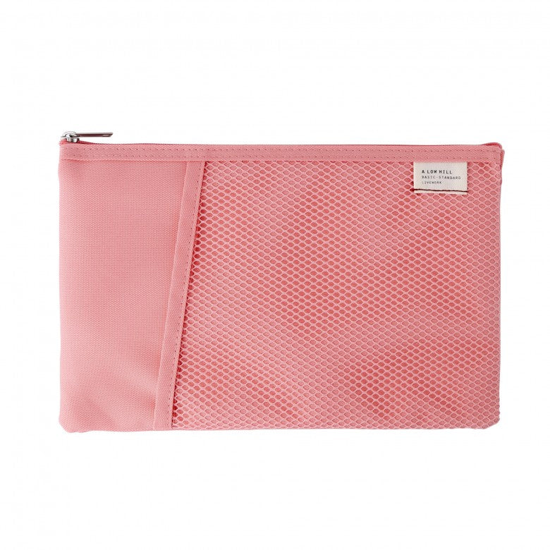 Mesh Pocket Daily Pouch in Pink