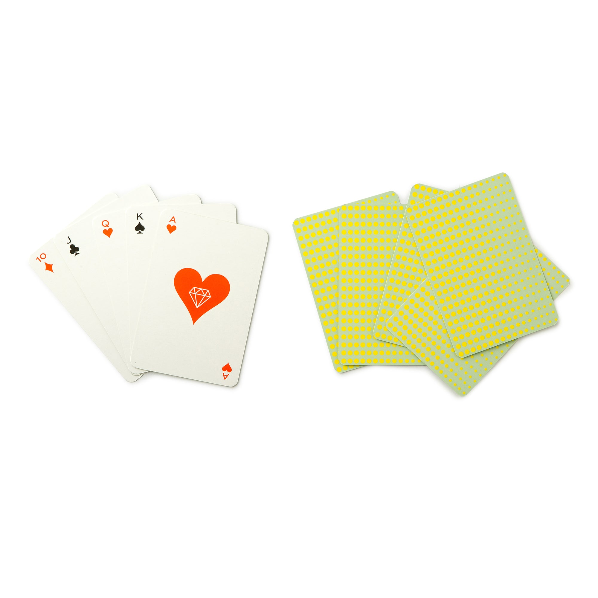 Coffee Table Game Playing Cards