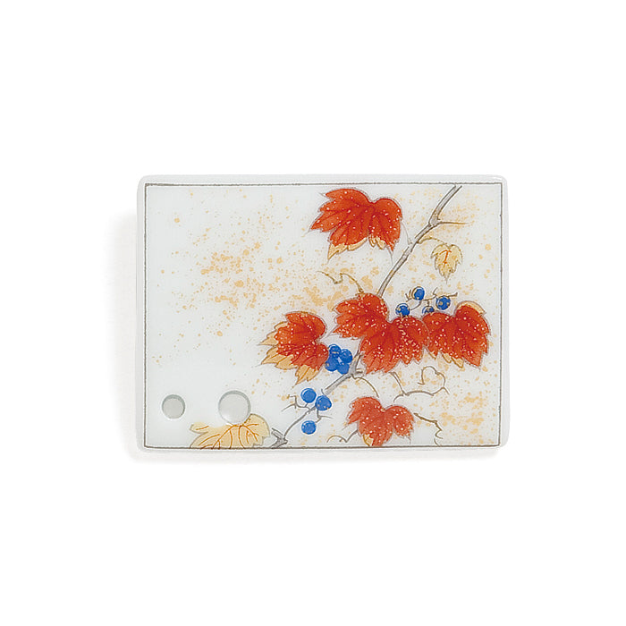 Decorative Porcelain Incense Holder with Autumn Ivy/Momiji Painting