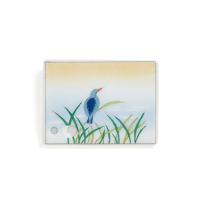 Decorative Porcelain Incense Holder with Kingfisher/Ryobo Painting