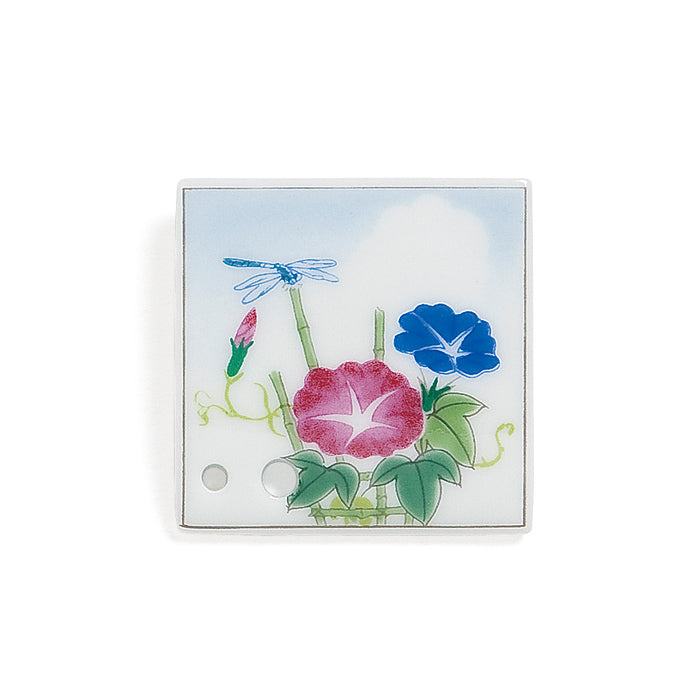Decorative Porcelain Incense Holder with Morning Glory/Tanabata Painting