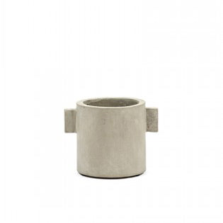 Serax Concrete Pot with Handles in Rustic Concrete Small