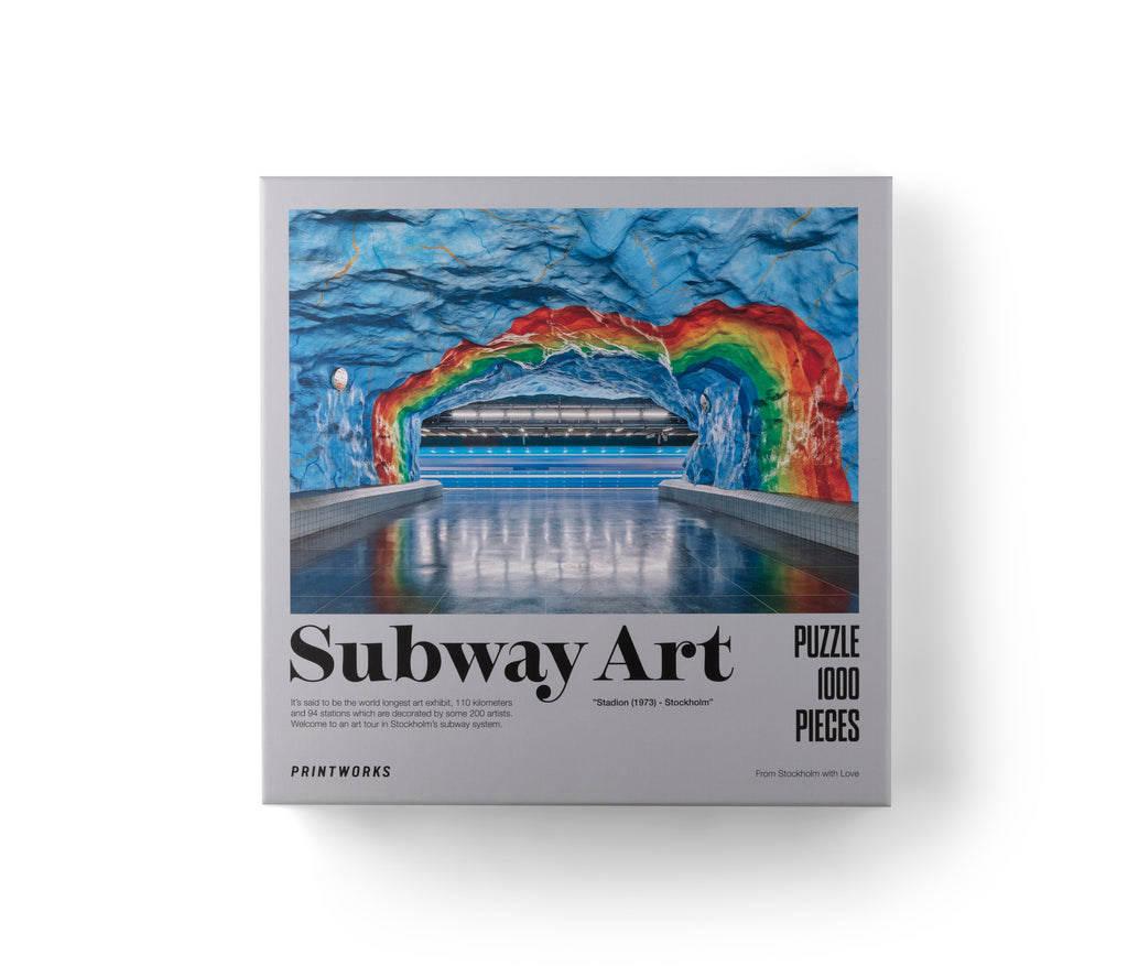 1000 Pieces Puzzle Subway Art Rainbow