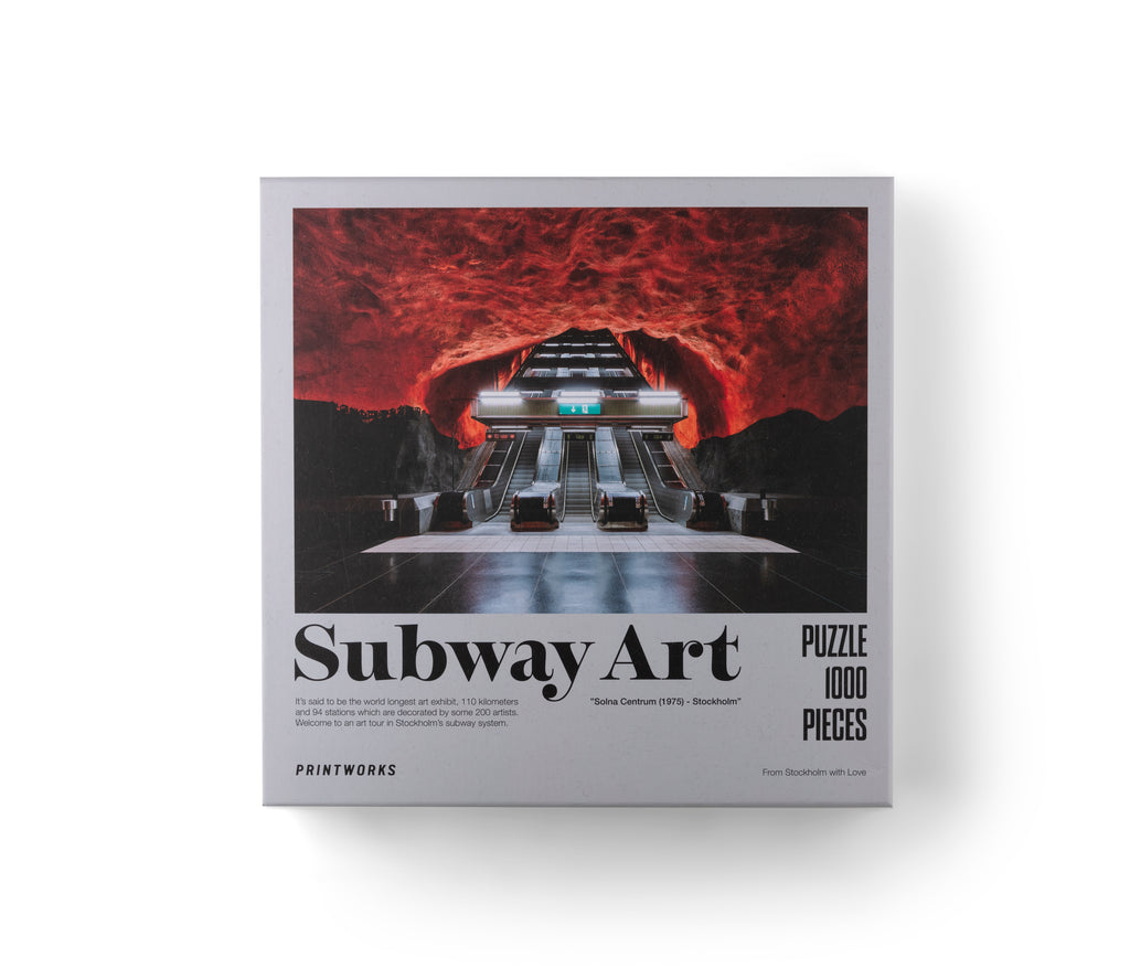 1000 Pieces Puzzle Subway Art Fire