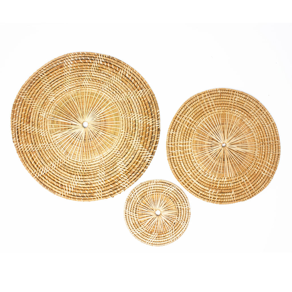 Rattan Round Place Matt Medium Size