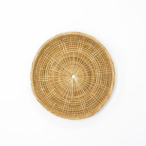Rattan Shallow Dish with Rim in Medium Size