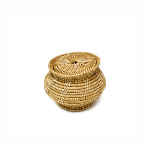 Rattan Bell Shape Small Basket with a Lid