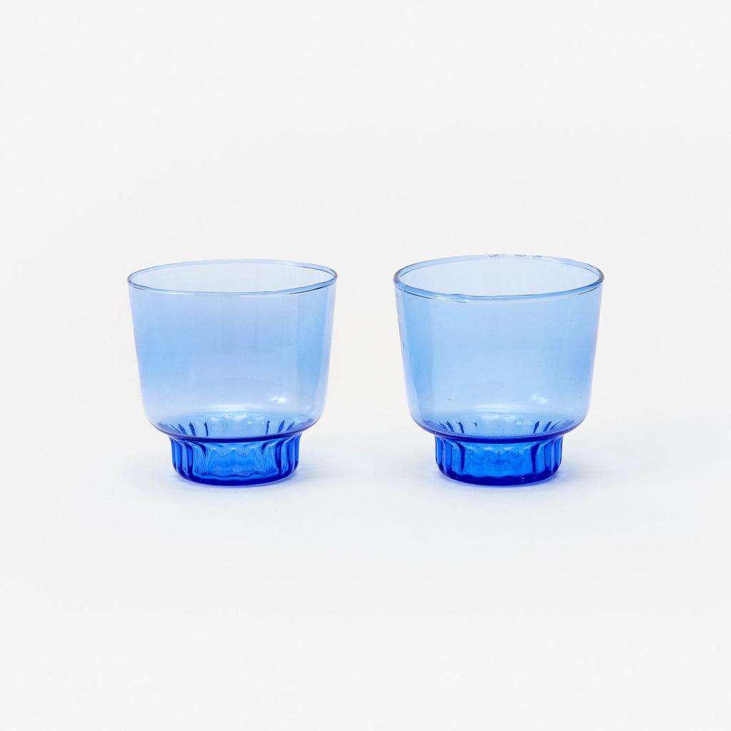 Small Cobalt Hand Blown Glasses (set of 2)