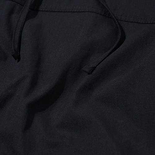String Hooded Anorak in Black
