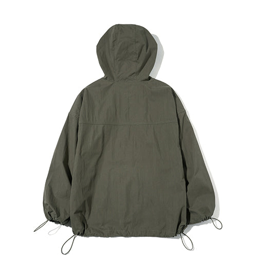 String Hooded Anorak in Khaki
