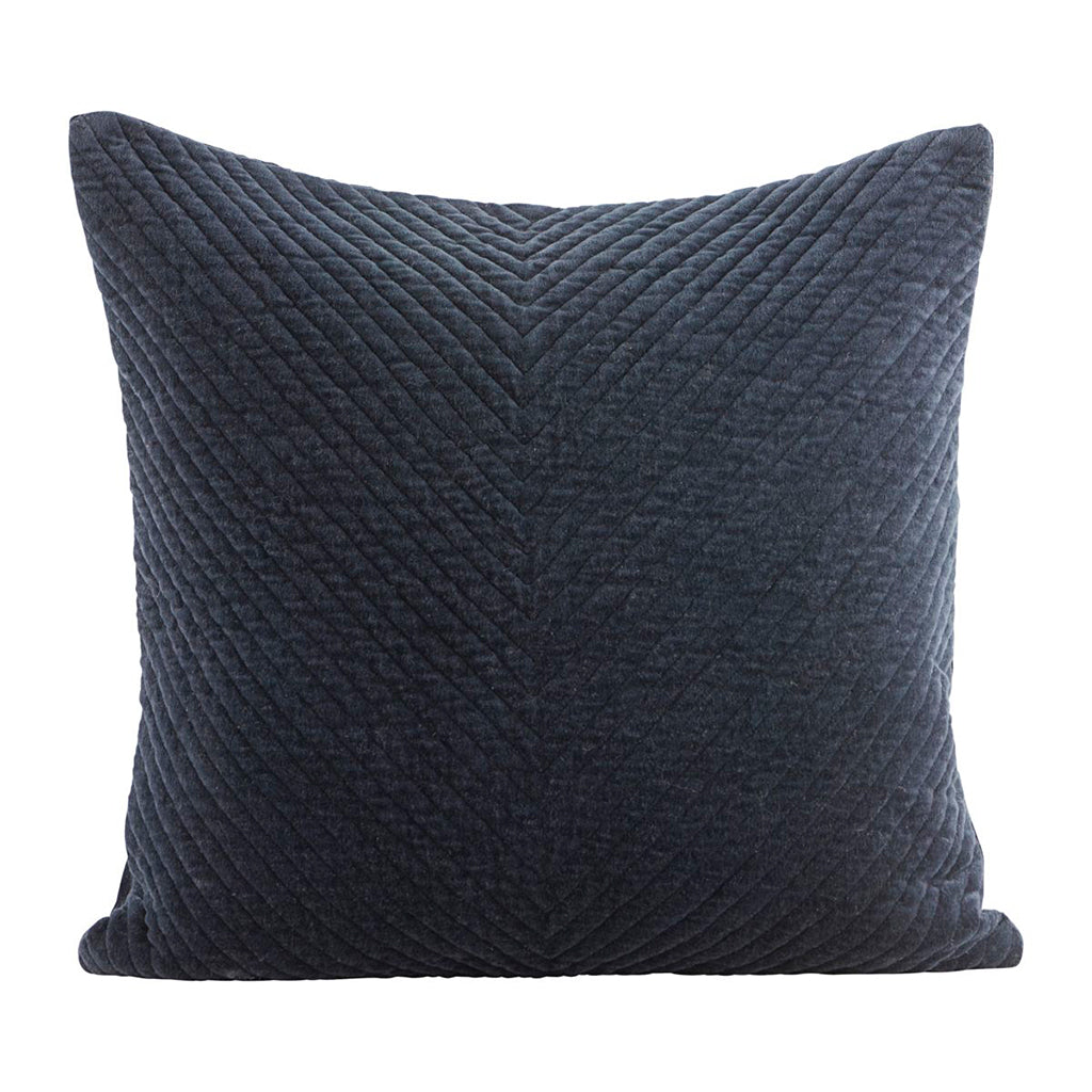 Stitched Velvet Cushion Cover Petrol (60 x 60cm)