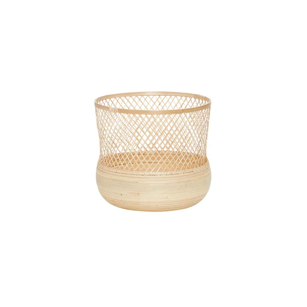 Round Bamboo Baskets in Small
