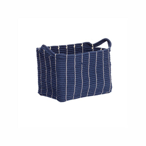 Blue Cotton Woven Basket in Small Size