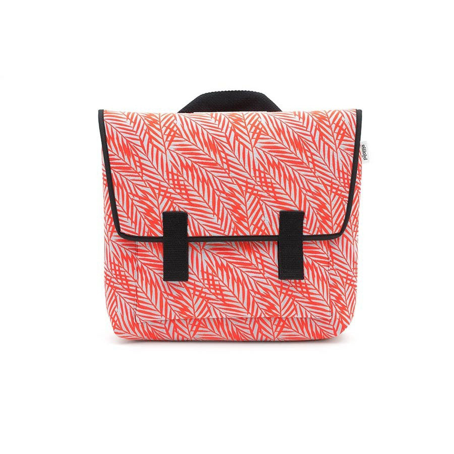 Satchel Bag in Orange Fern Leaves Print for Laptop 13""