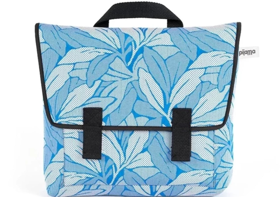 Satchel Bag in Blue Flower Print for Laptop 13""