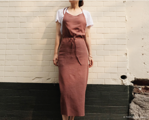 Soft Apron Dress in Brick