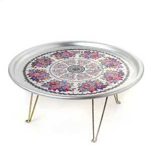 Tin Tray/Side Table with Foldable Legs from Korea Large