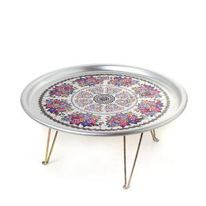 Tin Tray/Side Table with Foldable Legs from Korea Small