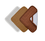 Baby Soft Washcloth Set of 3 in Wood