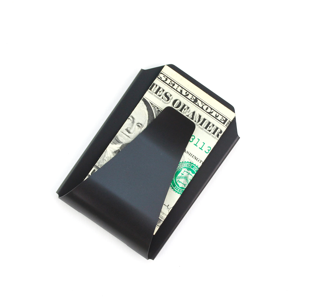Stainless Steel Card Case & Money Clip - Black