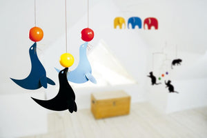 Flensted Happy Sealions Mobile in Multi Colours