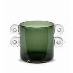 Wind and Fire Glass Vase by Marie Michielssen Dark Green