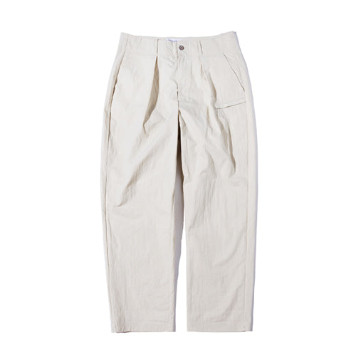 Semi High Waist Wide Tapered Pants in Ivory