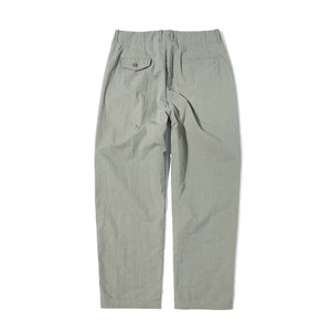 Semi High Waist Wide Tapered Pants in Khaki