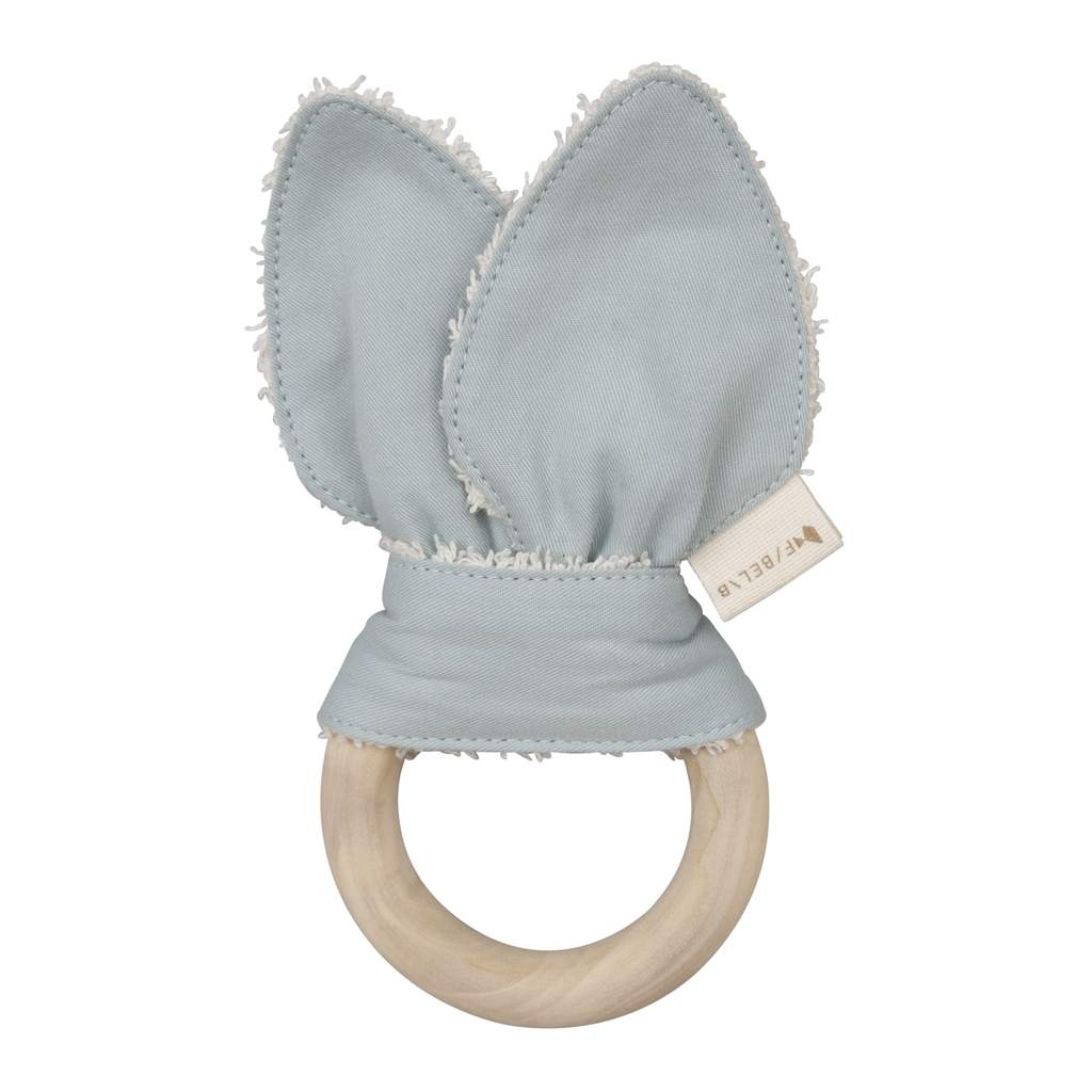 Animal Teether with Foggy Blue Cat Ears
