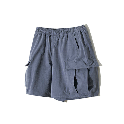 Utility Cargo Shorts in Dusty Blue