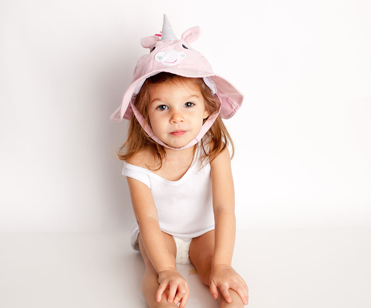 UPF50+ Unicorn Baby Sun Hat