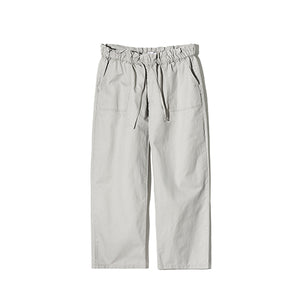 Washing Wrinkle Wide Pants in Smoke Grey