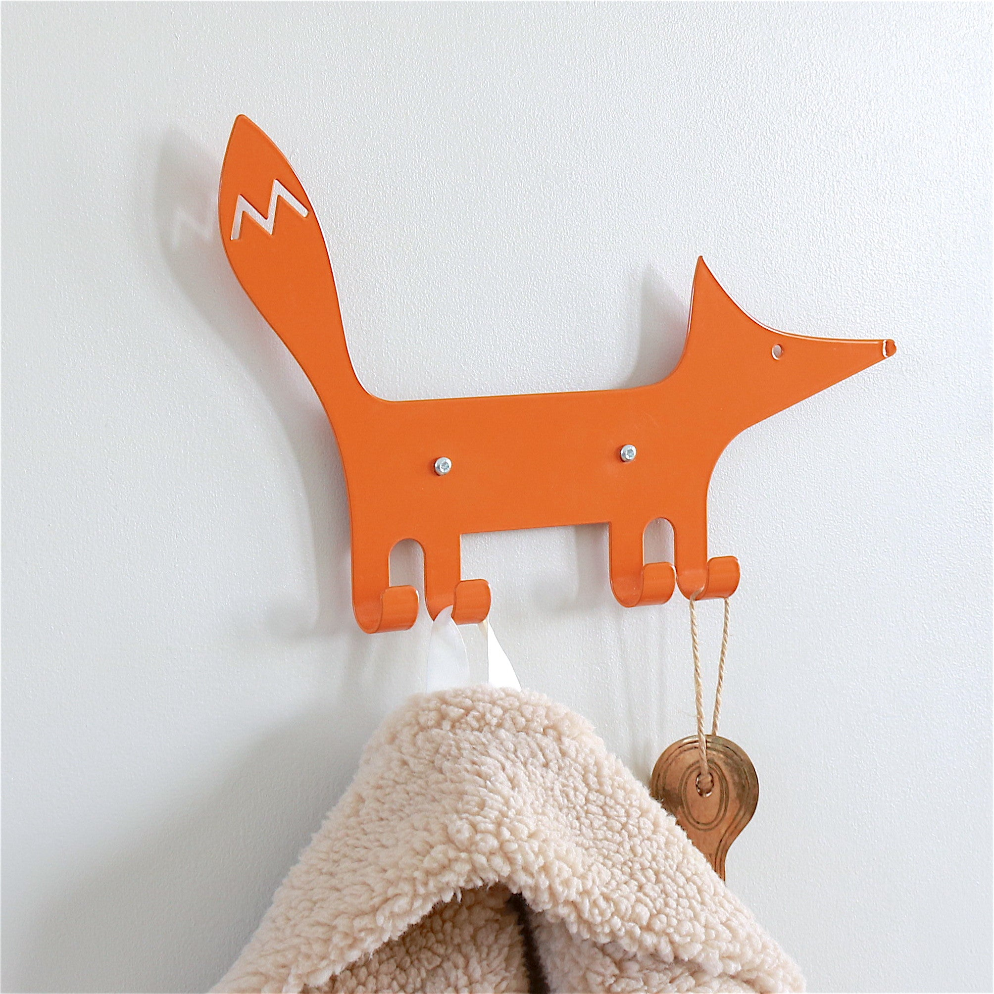 Wall Hook Fox Orange