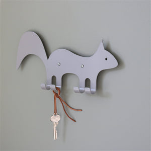 Wall Hook Squirrel Grey