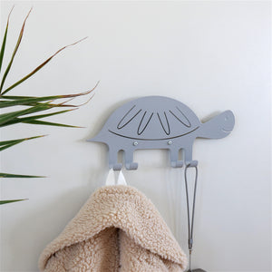 Wall Hook Turtle Grey