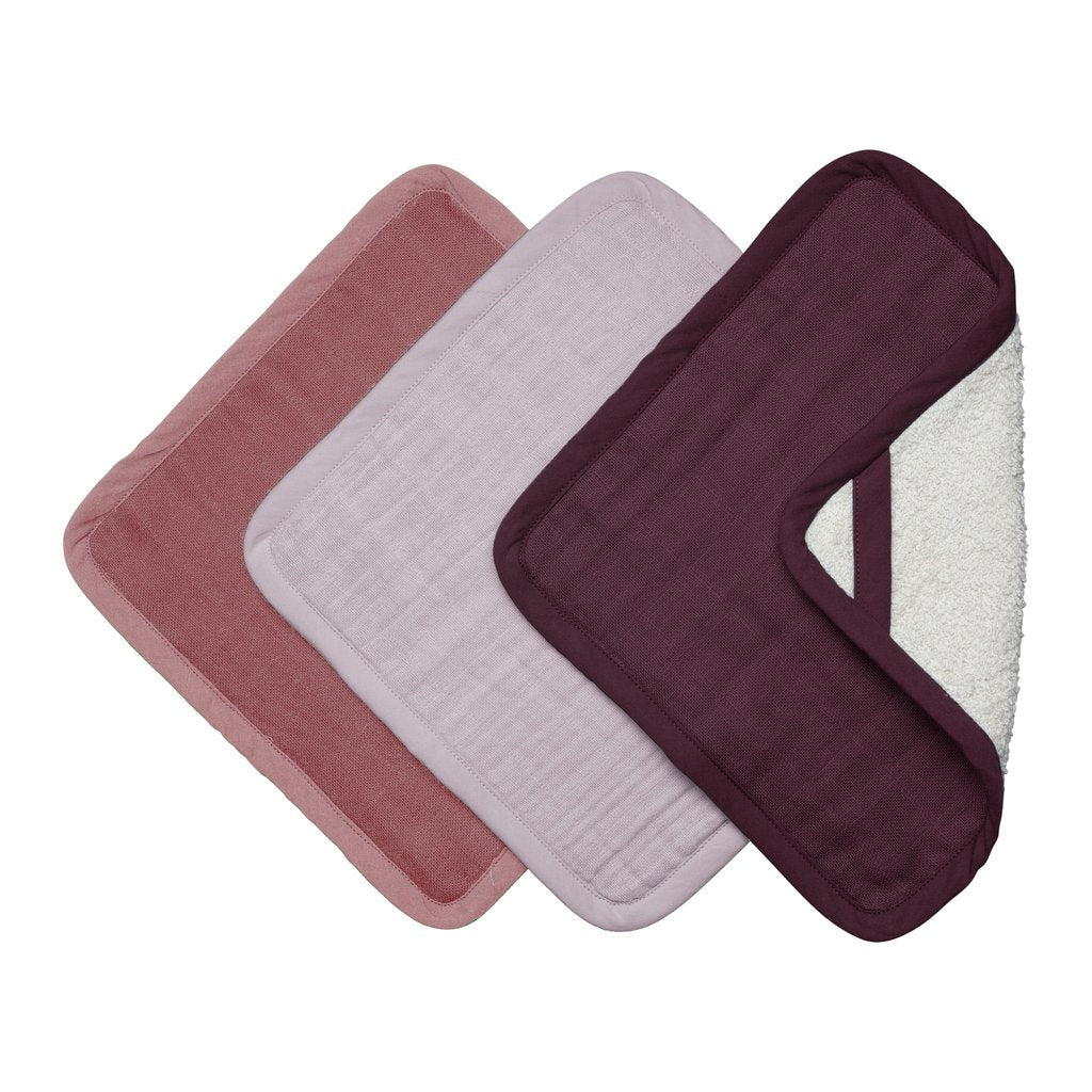 Baby Soft Washcloth Set of 3 in Berry