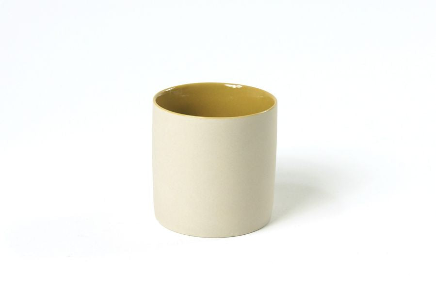 Ivory Mug with Mustard Glaze Inside in Small (150ml)