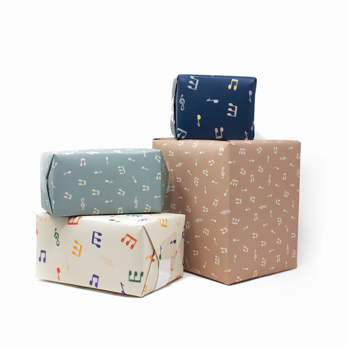 3 Sheets of Gift Wraps - Mint Notes